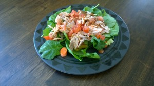 Spinach Salad w Salmon